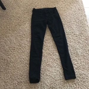 Black, stretch jeans